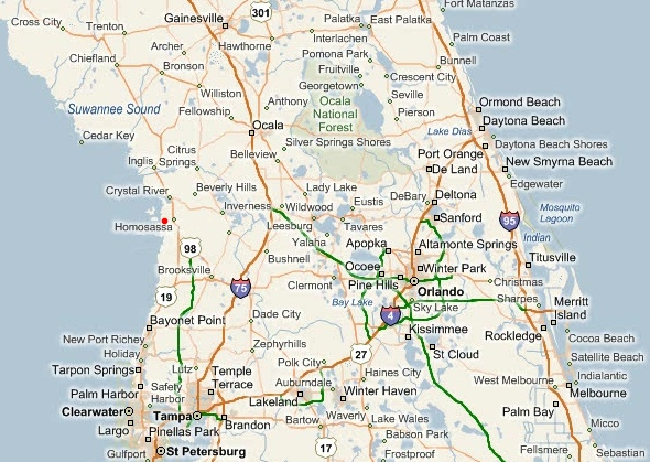 Homosassa Map : Homosassa Florida